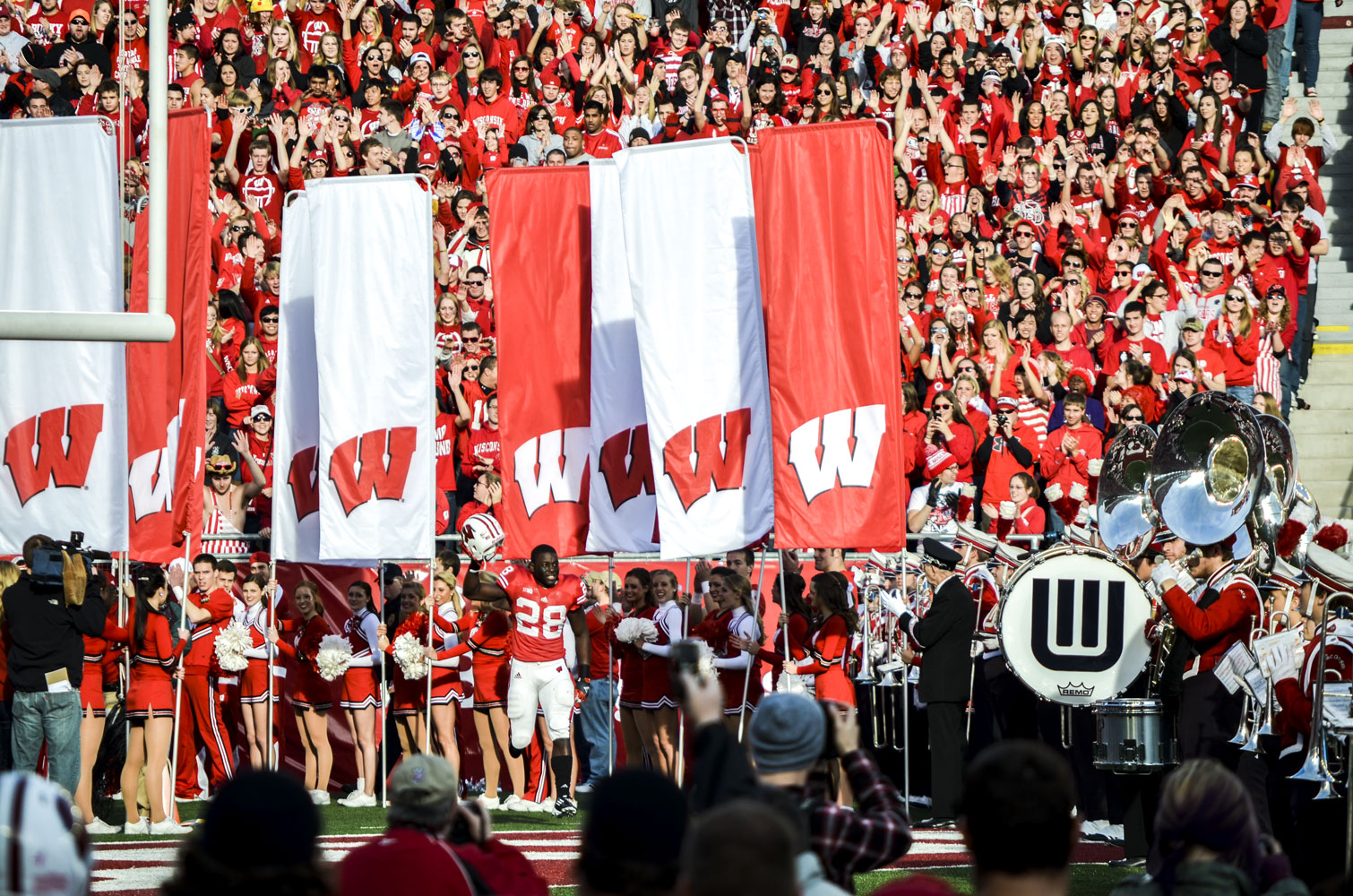 Madison-Camp-Randall-Badgers-Montee-Ball-Intro