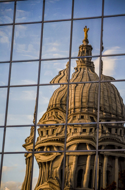 Madison-Capitol-Sunset-On-Windows-Fall