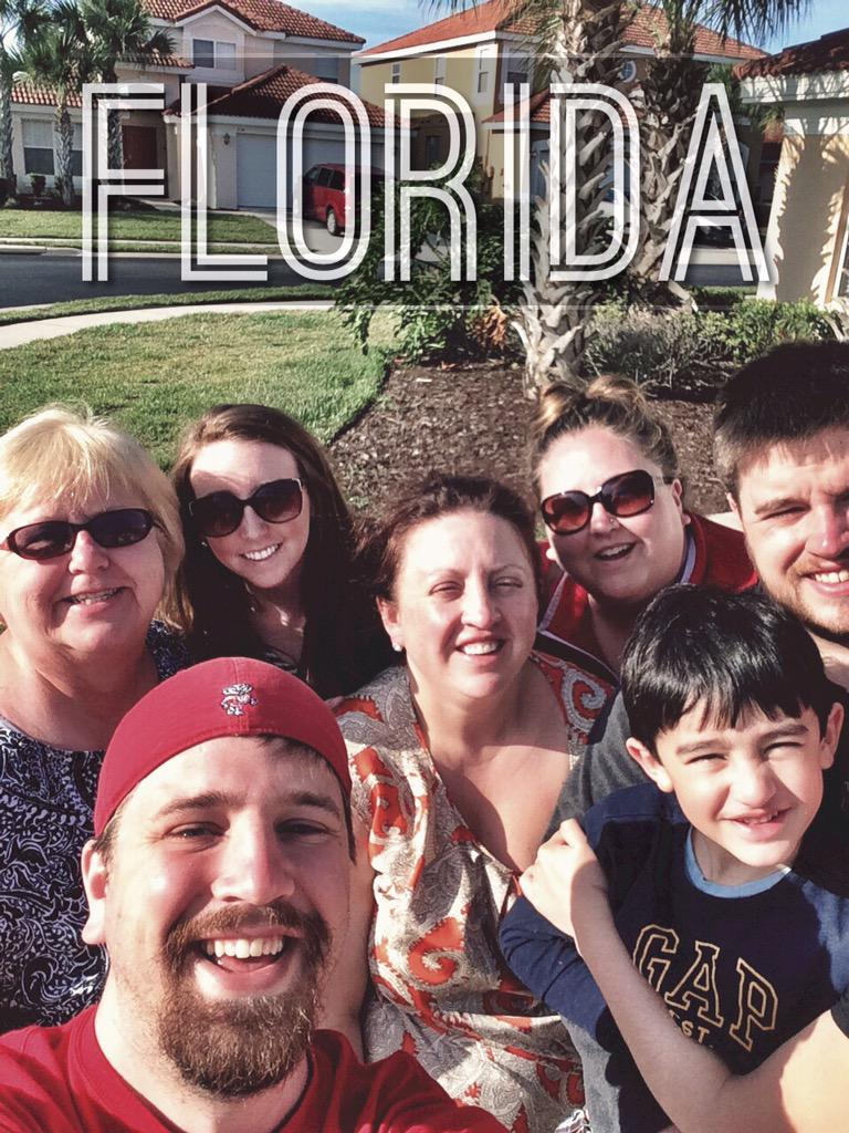 Vacation in Florida Selfie with Family